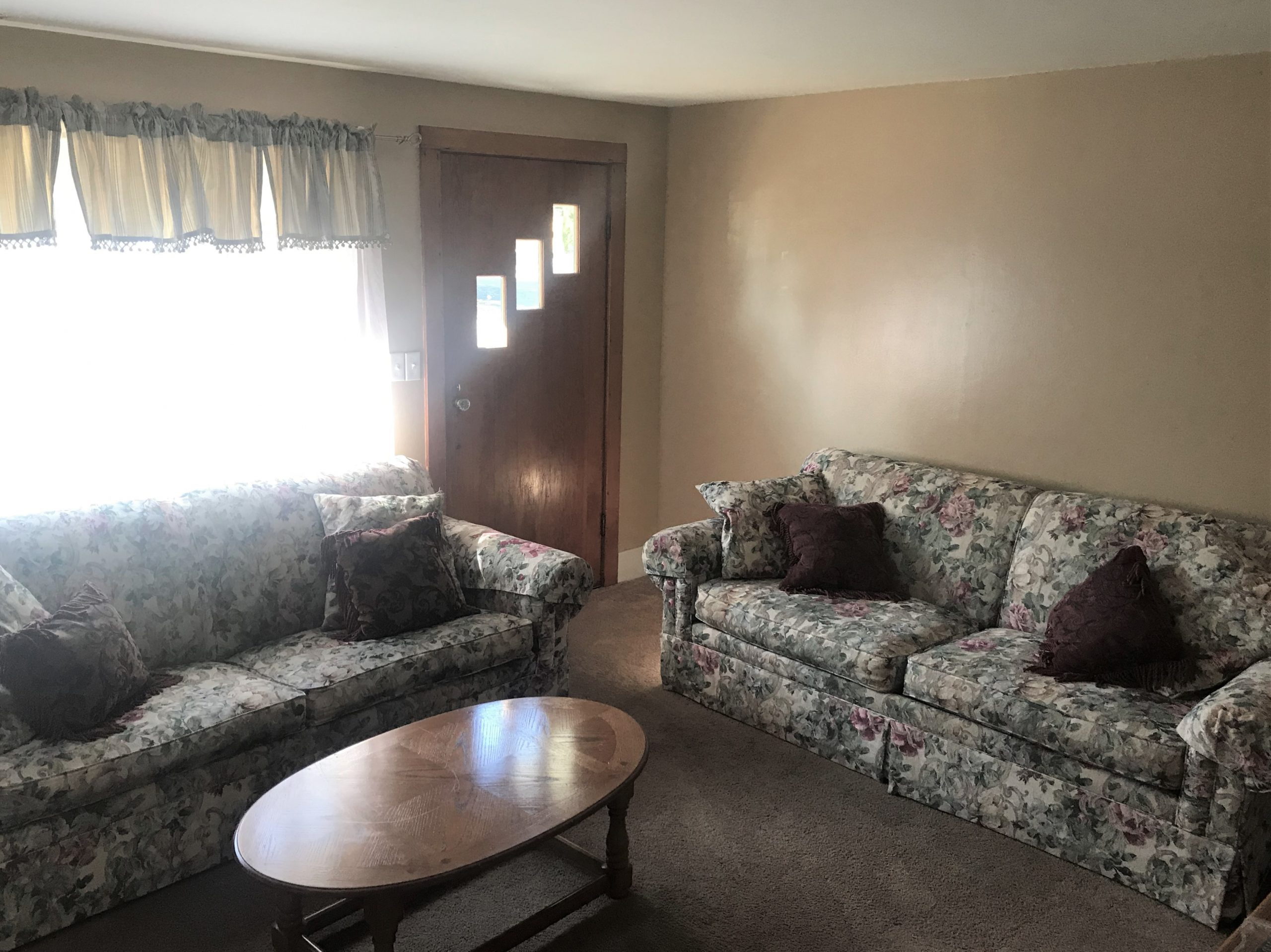 Two couches in the Unit 3 living room
